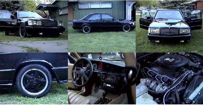 3) 1984 MERCEDES BENZ 190E 2.3L AMG BODY KITS